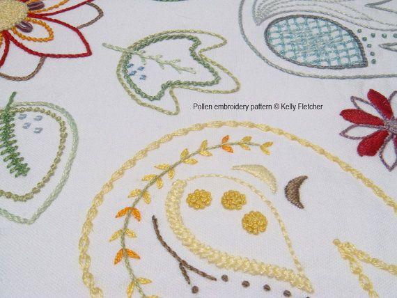 Pollen Modern Hand Embroidery Pattern By Kfneedleworkdesign Mi