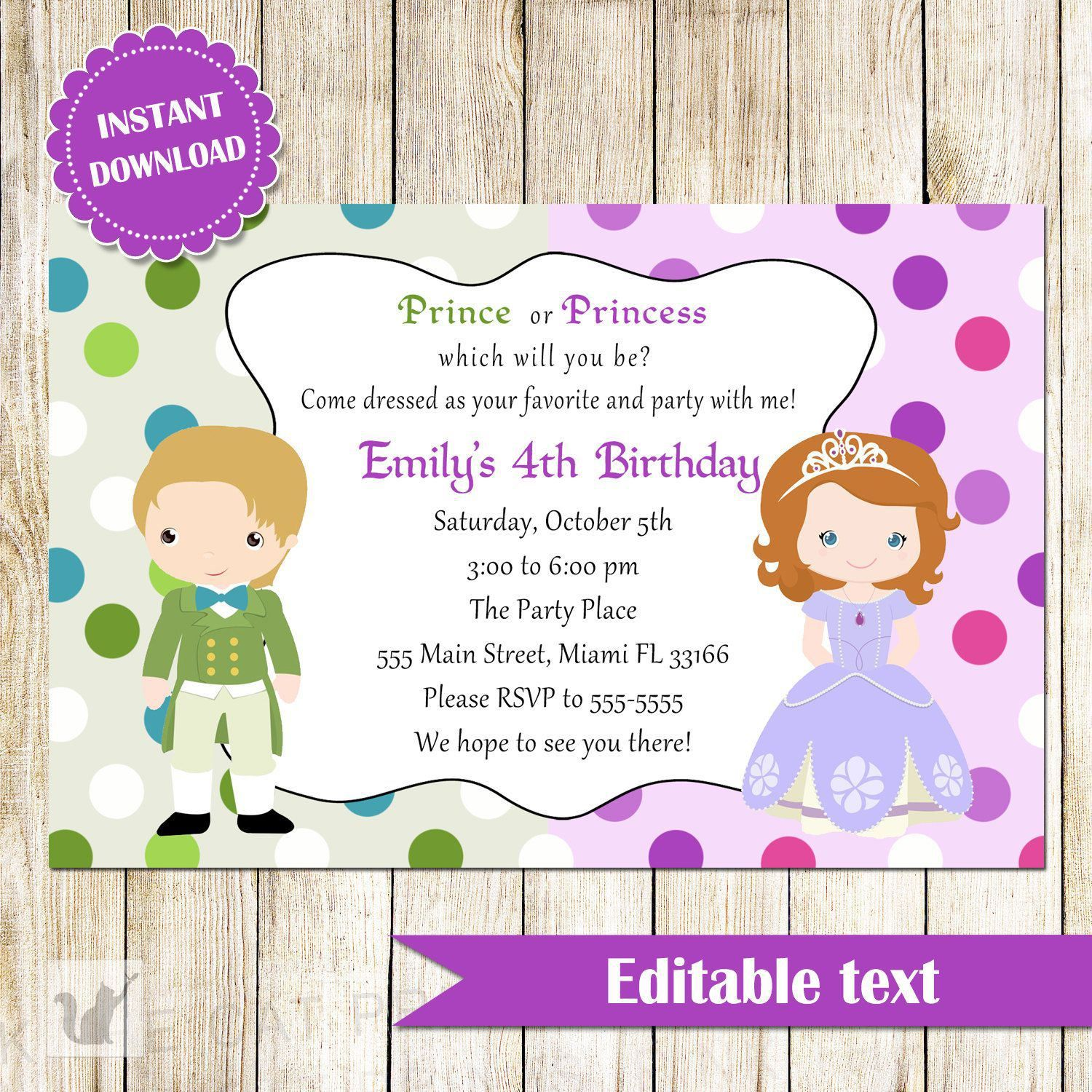 Invite Templates Invite Templates Free Superb Invitation - Princess birthday invitation templates free