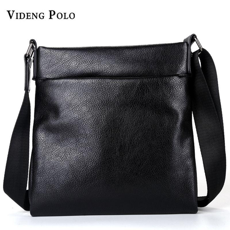 145c50c092 VIDENG POLO Men Bag Brand Soft Leather Casual Crossbody Bag High Quality Messenger  Shoulder Bag Male