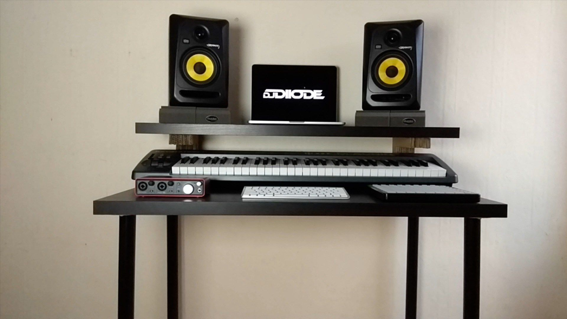 Make A Music Production Desk With Only 40 Pounds Ikea Hacks Ikea