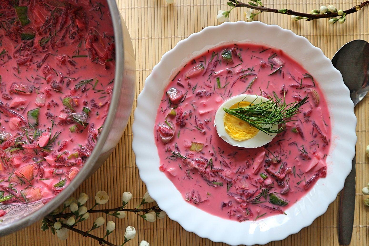 Swekolnik – leckeres Rezept für russische kalte Rote-Bete-Suppe