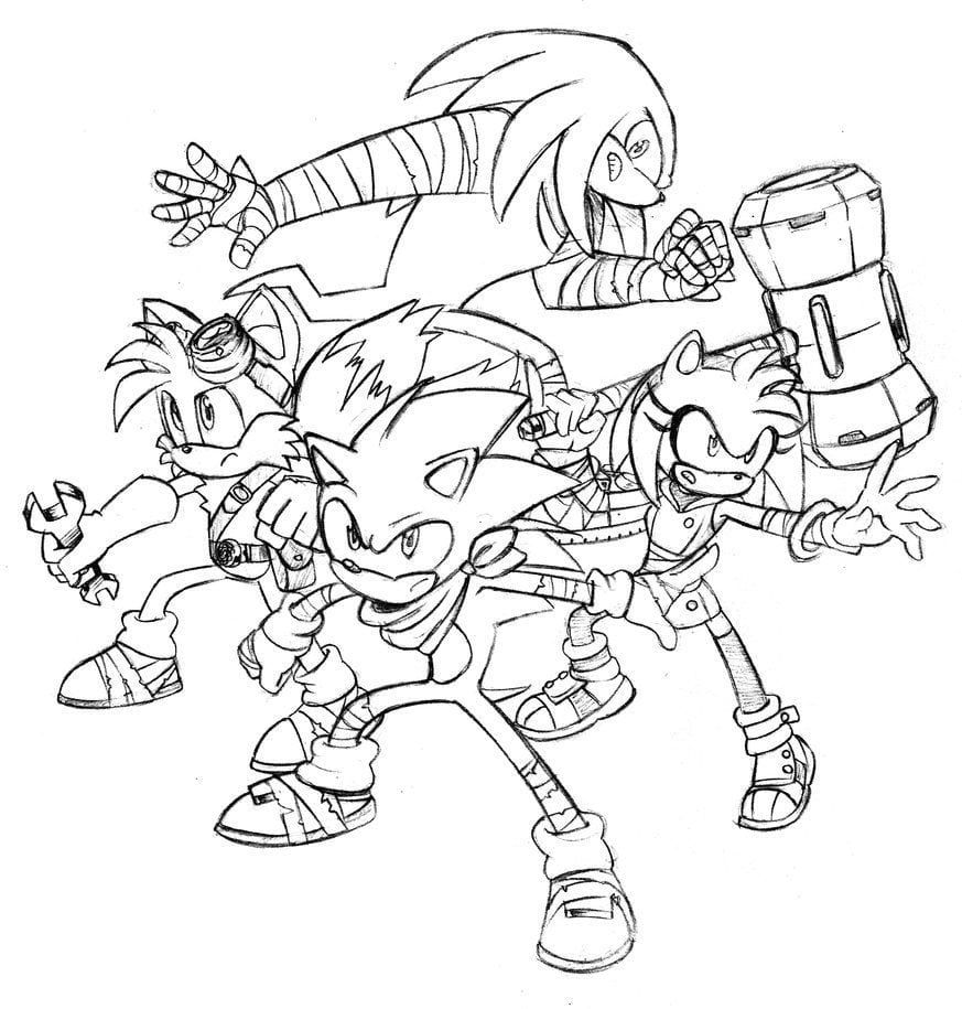 Sonic Boom Colouring Pages Coloring Pages Sonic Boom Character