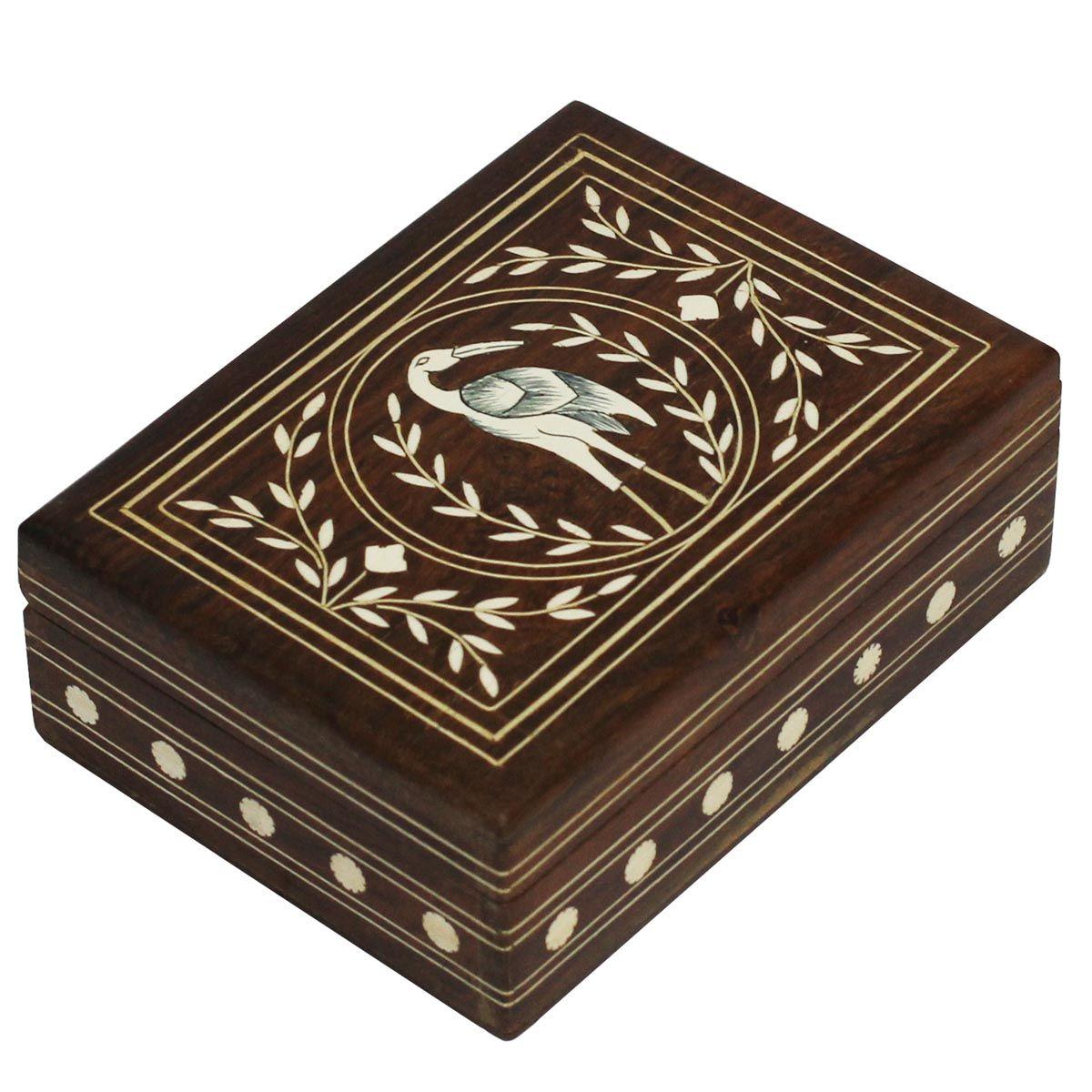 "Bulk Wholesale 7"" Rectangular Shaped Wooden Jewelry Box"