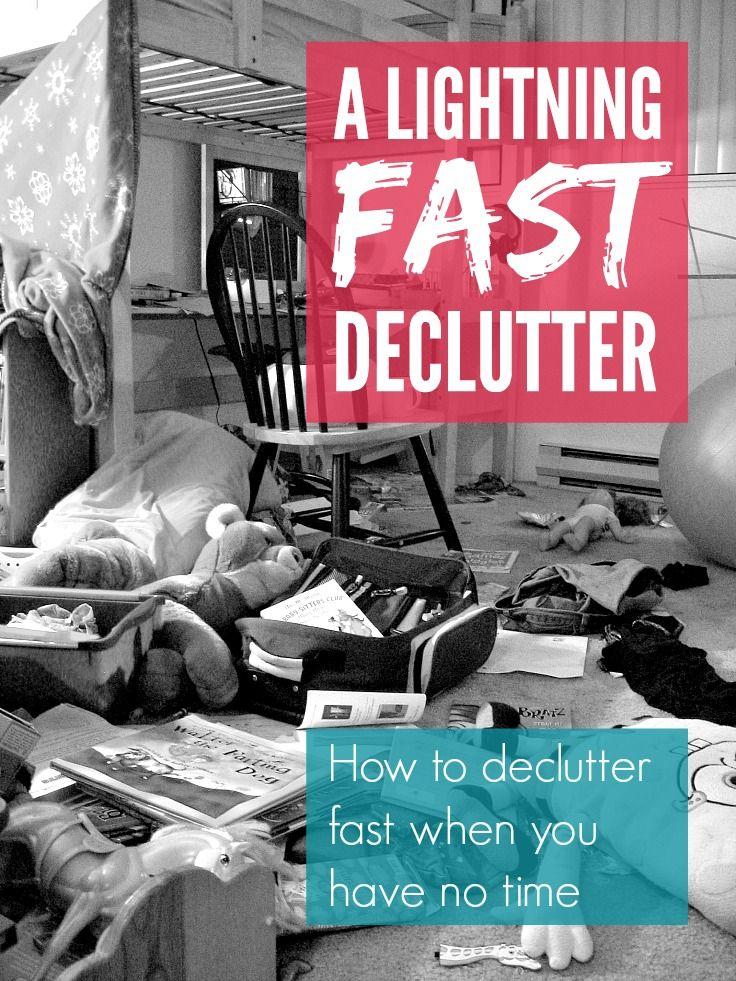 A lightning fast declutter declutter lightning and clutter declutter fast a lightning fast declutter when you have got no time sciox Images