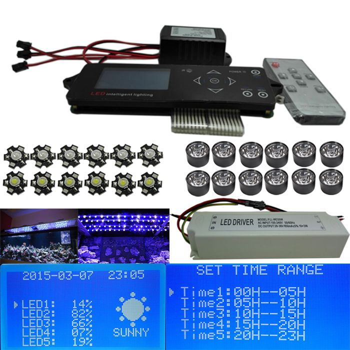 Aliexpress Com Buy 150w Diy Led Aquarium Light Timing Automatic Dimming Day Night Auto Dimming Led Grow Lig Led Aquarium Lighting Aquarium Lighting Led Diy