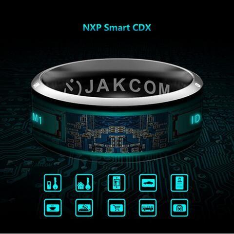 Black Smart Rings men women wedding Wear Jakcom R3 NFC Magic For