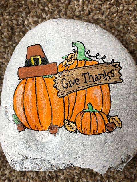 48 Thanksgiving Painted Rocks Ideas Painted Rocks Rock Crafts Rock