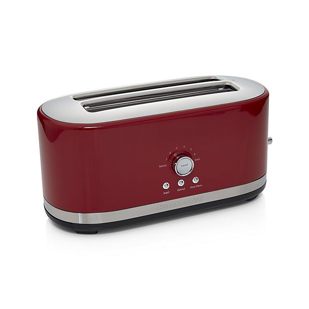 Superior KitchenAid ® 4 Slice Long Slot Toaster Red