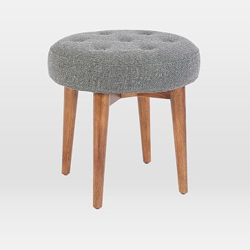 Marvelous West Elm Mid Century Stool Products Upholstered Stool Gmtry Best Dining Table And Chair Ideas Images Gmtryco