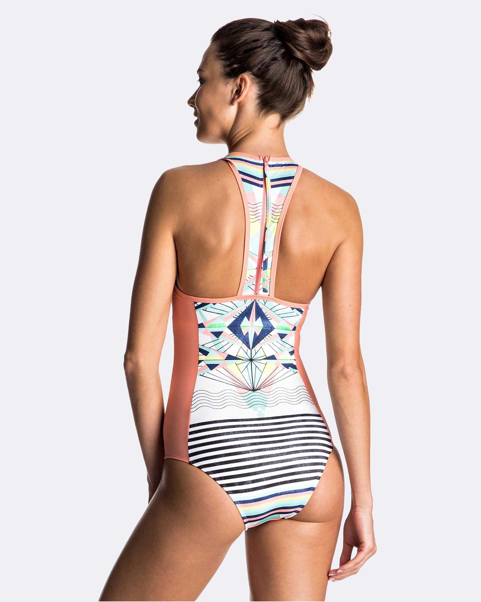 caca196795 Womens Keep It Roxy Fashion One-Piece Swimsuit by Roxy Online