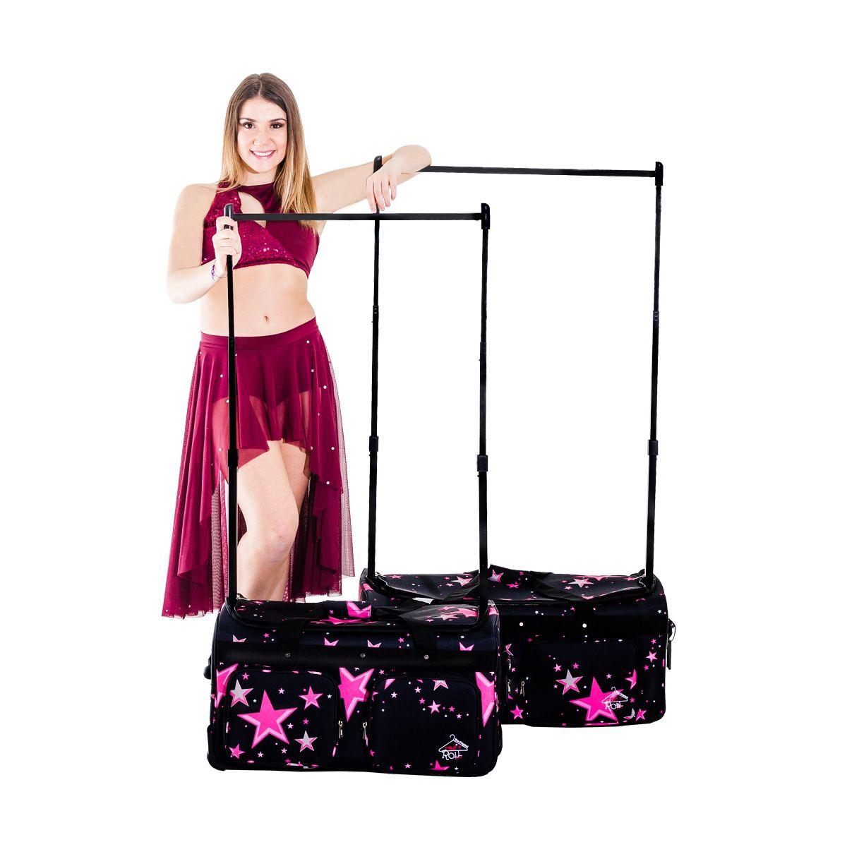 Medium Pink Stars dance competition garment bag by RacNRoll