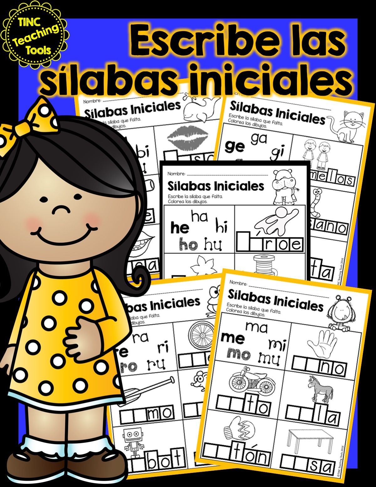 Escribe Las Silabas Iniciales Write The Beginning