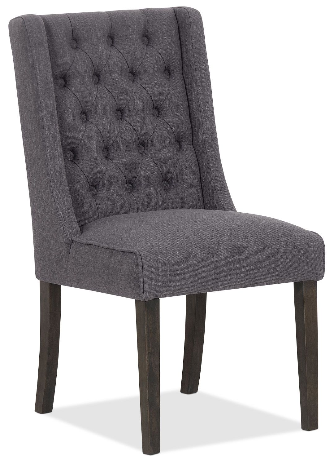 Caroline Wing Chair, Set of 2 Grey The Brick DiNiNG