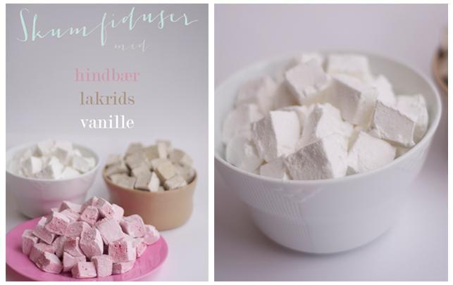 Opskrift på skumfiduser med lakrids, vanilje og hindbær