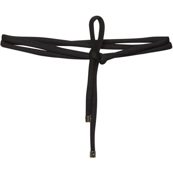 Beaufille Black Sculptor Tie Belt (€105) ❤ liked on Polyvore featuring accessories, belts, tie belt and self tie belt