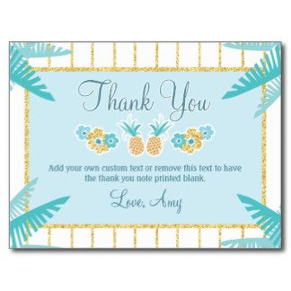 Hawaiian Luau Thank You Cards