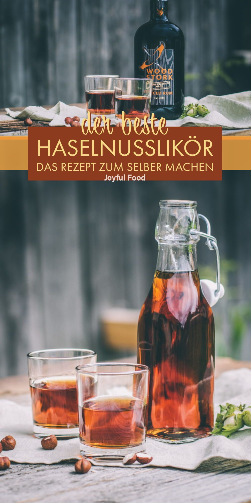 Photo of Feines Haselnusslikör Rezept mit Wood Stork Spiced Rum | Joyful Food