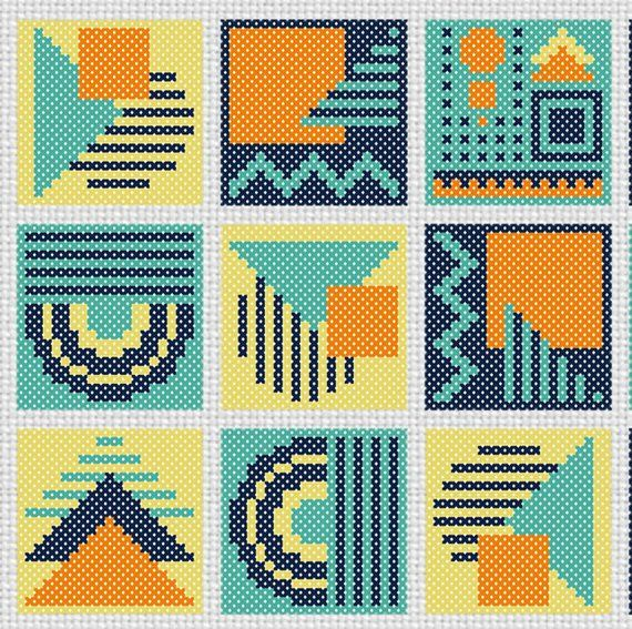 BOGO FREE  Scandinavian folk Cross Stitch Pattern   (#P