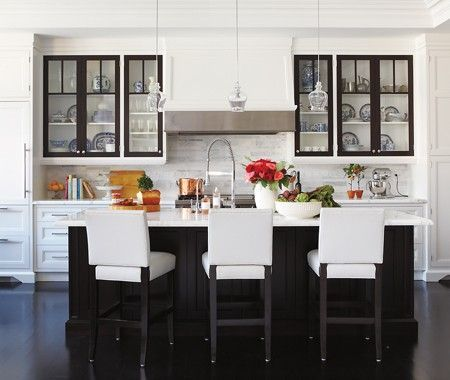 Black And White Traditional Kitchen glamorous black & white kitchen | photo michael graydon | design