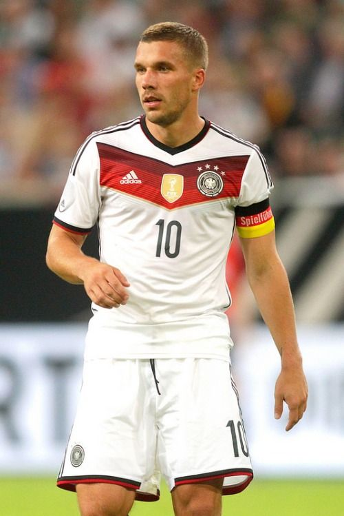 38814bcc263 Podolski as Captain Germany Team