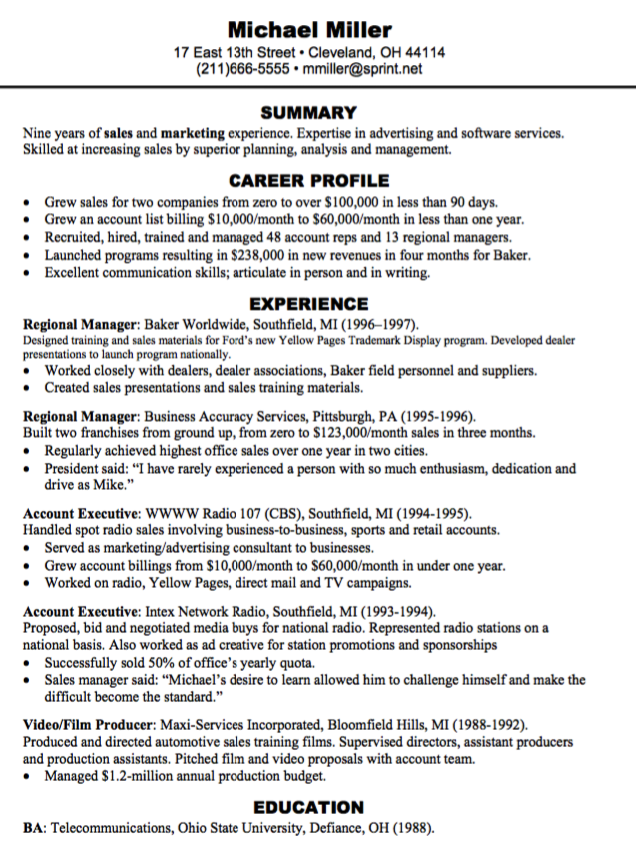 Regional Manager Resume Pin By Latifah On Example Cv Sample
