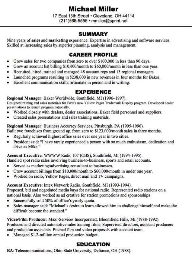 Regional Manager Resume Sample Examples Resume Cv Manager Resume Resume Cv Resume