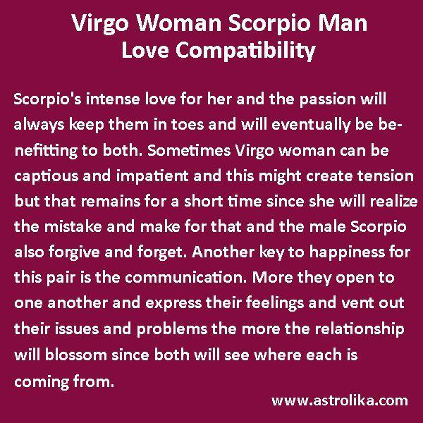 Scorpio man virgo woman love