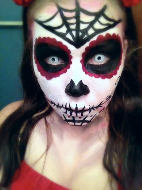This is my dia de los muertos makeup ) #sugarskull #makeup Dia - halloween horror costume ideas