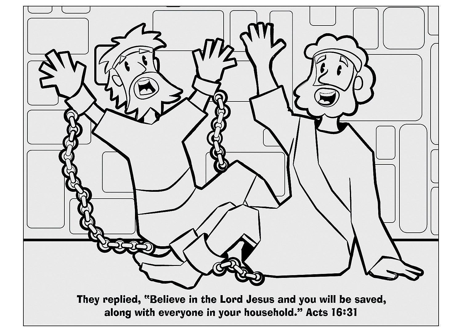 Paul and Silas Coloring Pages Print to Print in 2020