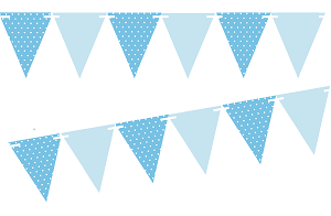 Light Blue Polka Dot Solid Light Blue 10ft Vintage Pennant Banner Paper Triangle Bunting Flags For Weddings Birthdays Baby Showers Events Part Pennant Banners Bunting Flags Blue Banner