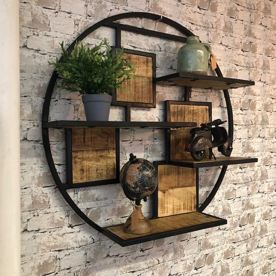 Metalen Wandrek Vintage Industrieel Blockdesign Wandrek Kamerplant Decor Huis Ideeen Decoratie