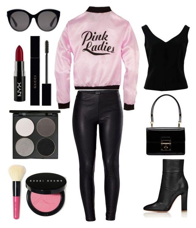 Grease Pink Ladies Halloween Costume\ - greaser halloween costume ideas