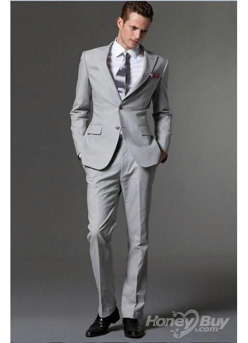 Silver suit. | If cats don\'t work out... | Pinterest | Weddings