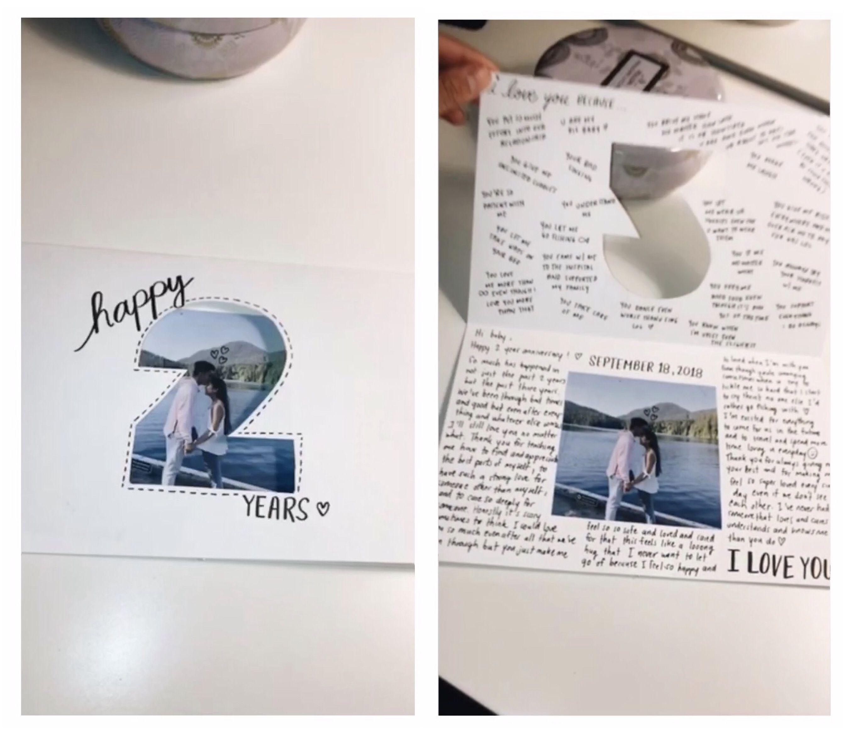 Gift idea: cutout card #boyfriendgiftsdiy