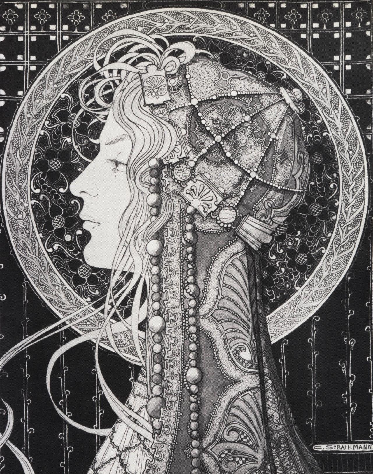 Affiche Art Nouveau Stijl Vrouw Poster Jugendstil