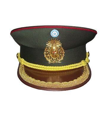 Gorra de plato de oficiales superiores de Ejército Argentino   Argentine  Army senior officers  visor cap c471fd893b8