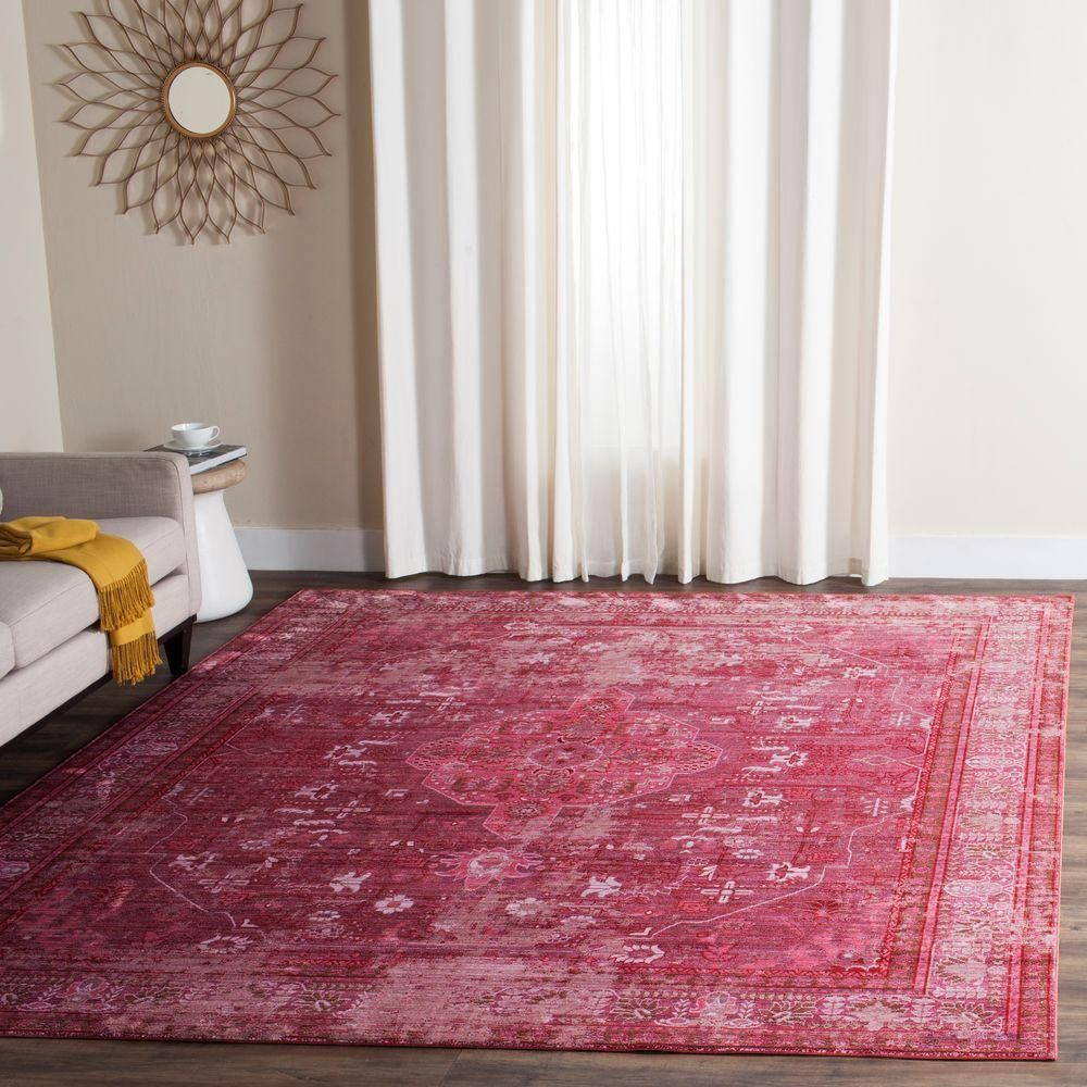 Safavieh Valencia Red Multi 8 Ft X 10 Ft Area Rug Val127r 8 The Home Depot Area Depot Home Persiancarpetmodern Red Polyester Rugs Area Rugs Red Rugs