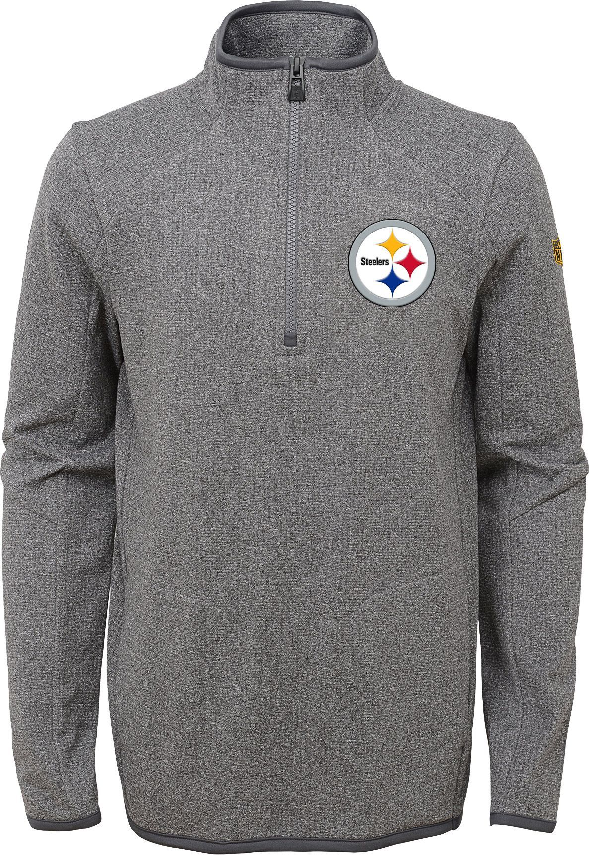 Team Apparel Youth Pittsburgh Motion Grey Quarter-Zip Fleece Pullover 5d58a989c