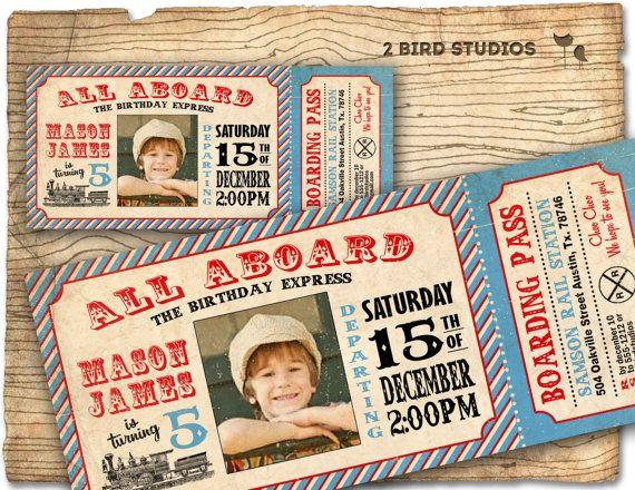 Vintage Train Invitation