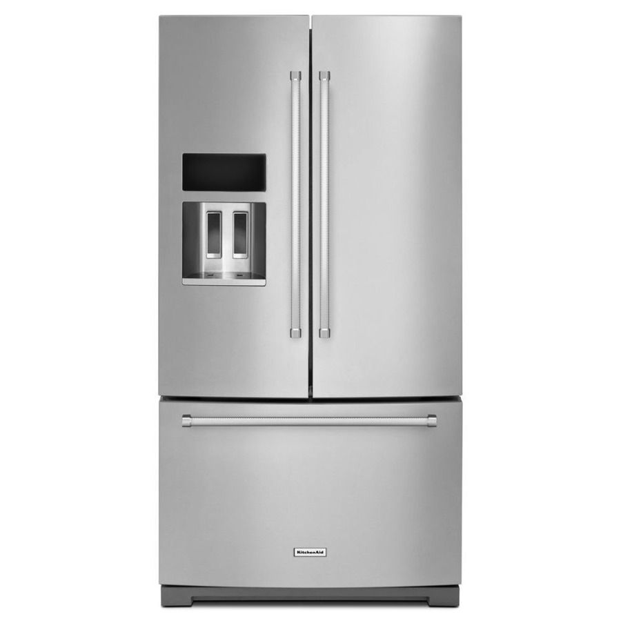 Kitchenaid 26 8 Cu Ft French Door Refrigerator With Single Ice Maker Stainless Steel