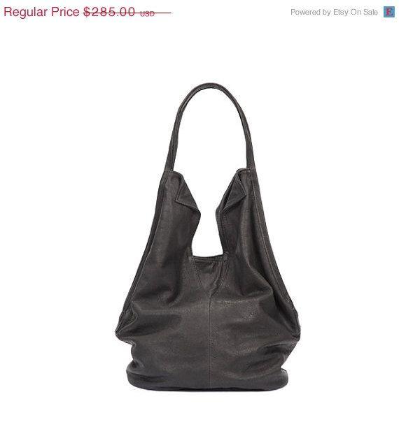 Black leather tote bag Soft leather bag Charly by LadyBirdesign ... 835aeebfecf6c
