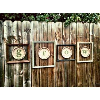 I made these fence decorations because i couldnt find wood letters i made these fence decorations because i couldnt find wood letters in a font i liked spiritdancerdesigns Images