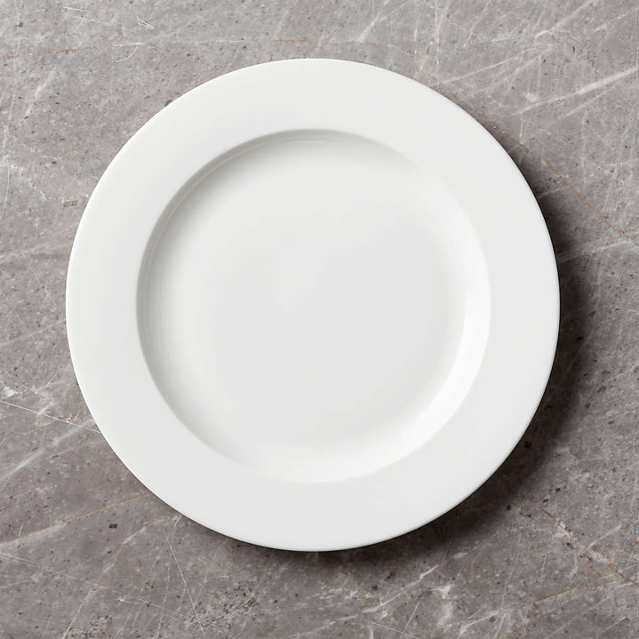 Bennett Rimmed Dinner Plate Reviews Crate And Barrel In 2021 Dinner Plates Plates Crate And Barrel
