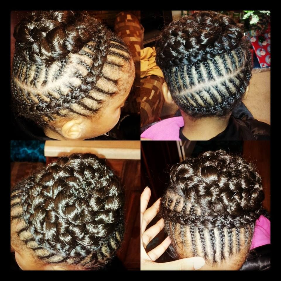 Cornrows braided into a seashell braid learning pinterest