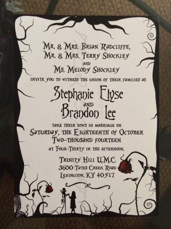 Nightmare before christmas wedding invitation template