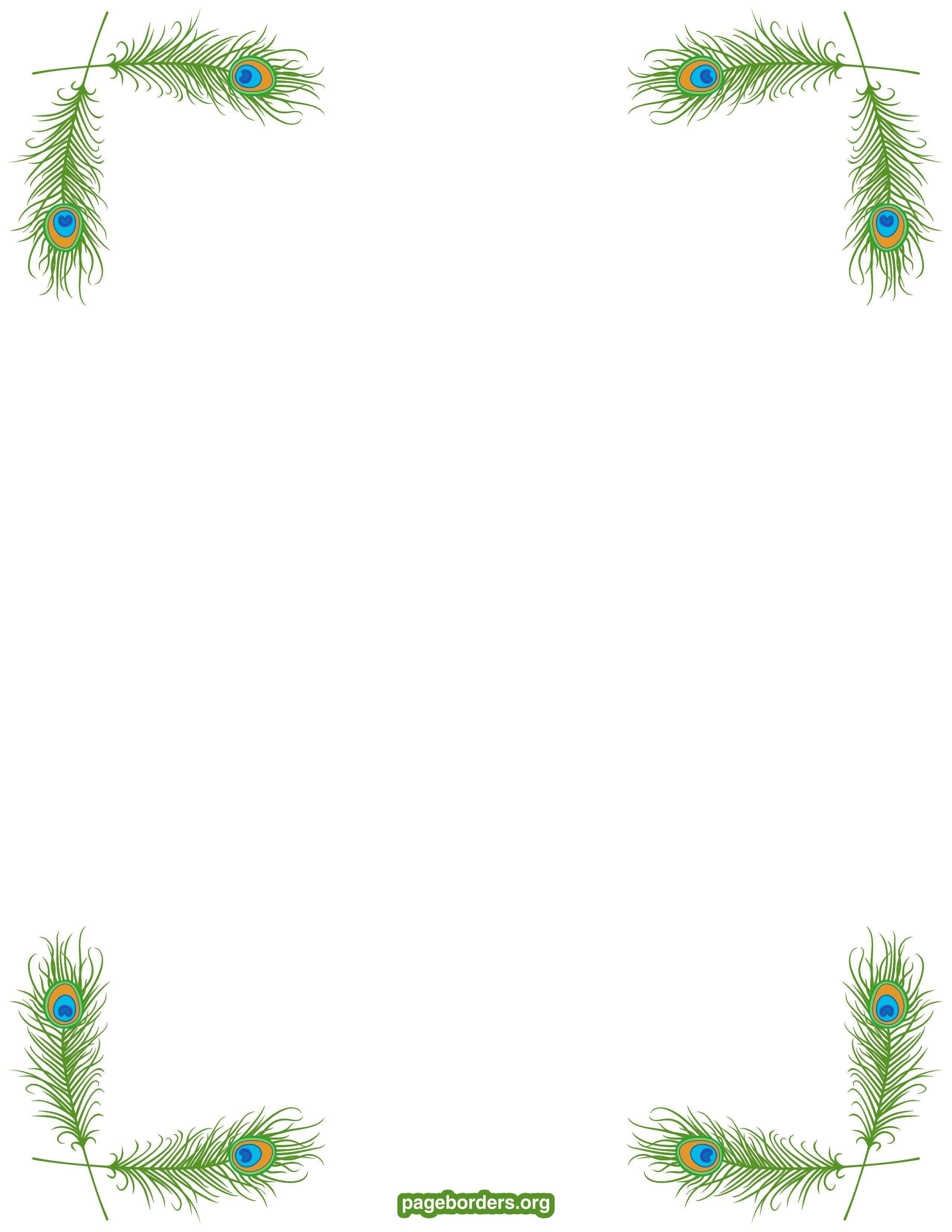Peacock Border Watermarked Jpg 2550 3300 Dat Verdient Een Pluimpje Gratis Download Met Bookmark Leuk Fram Fundos De Criancas Papel De Carta Decorado Bordas
