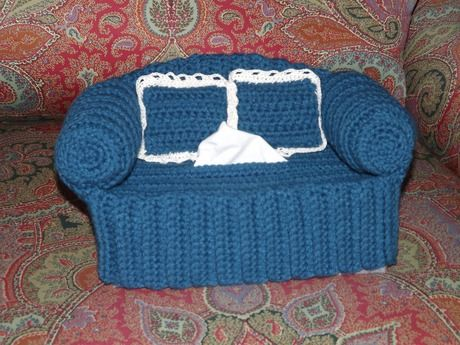 Crochet Kleenex Cover Crochet Couch Tissue Box Cover