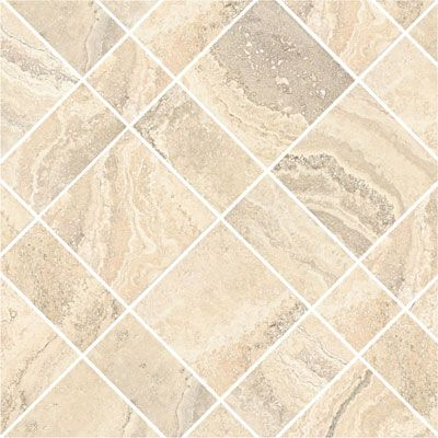 Add A Pattern Daltile Cortona White Flora In A Diamond With - Daltile cortona