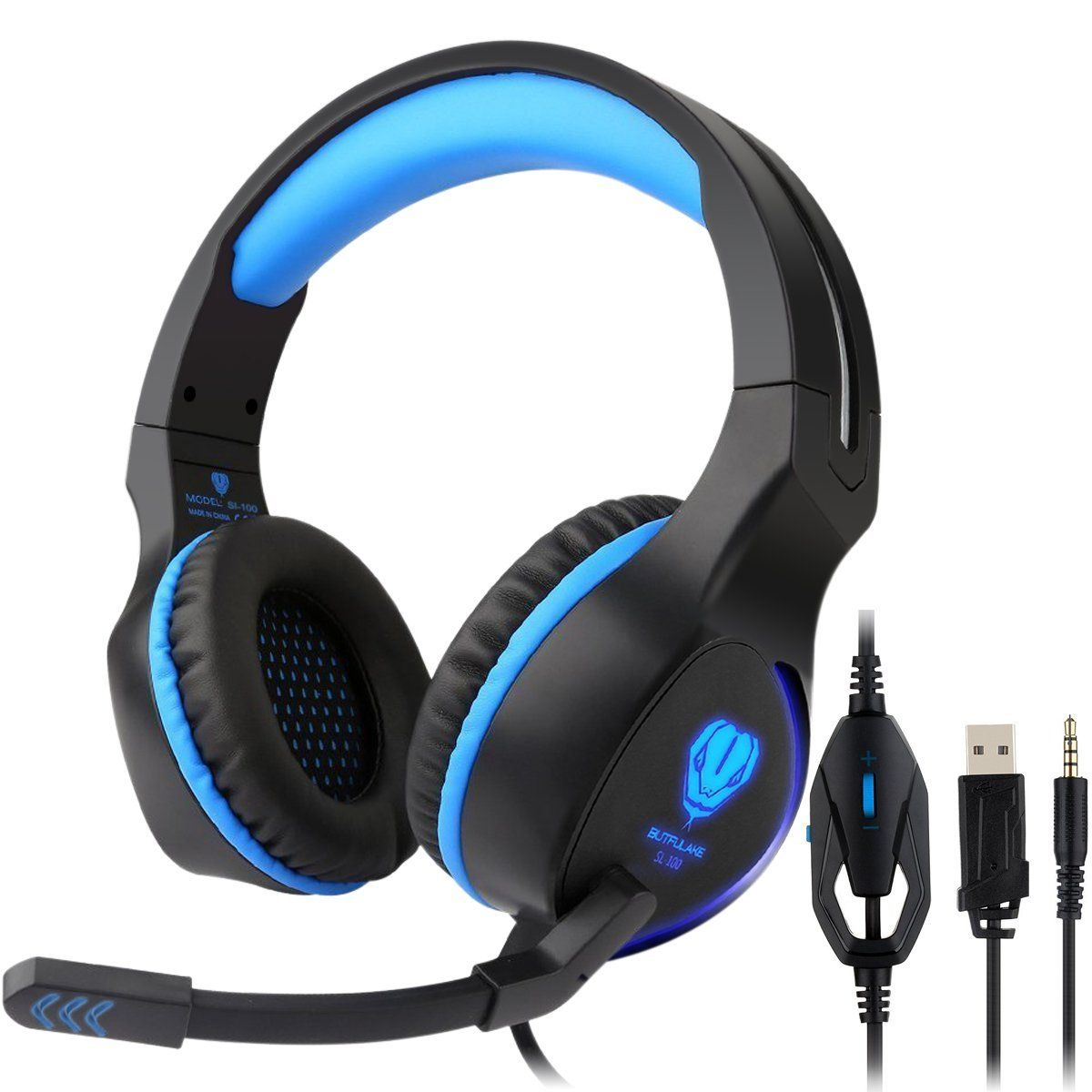 Gaming Headset with Mic for PS4 PC,Fodlon BUTFULAKE 2017 New Noise