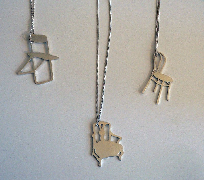 Colleen Heineman Chair Necklaces 8x8 Print Funky Jewelry Best Gifts
